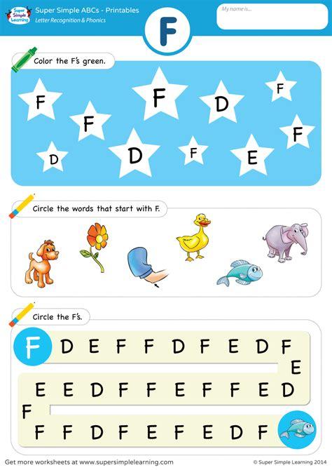 letter recognition phonics worksheet  uppercase super simple