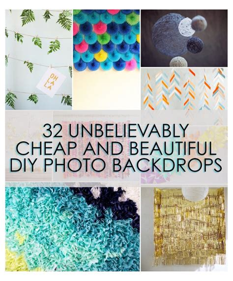 Diy Background Ideas by 32 Unbelievably Cheap And Beautiful Diy Photo Backdrops