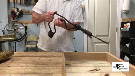 antique corner brace drill youtube