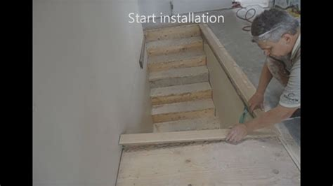 install hardwood  shape stairs nosing