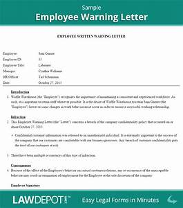 Employee Warning Letter Template (US) LawDepot