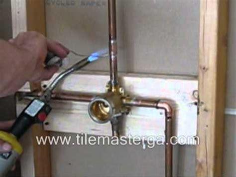 shower valve replacement brass in installation