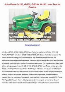 John Deere Gt225 Gt235 Gt235e Gt240 Lawn Trac By Leticia