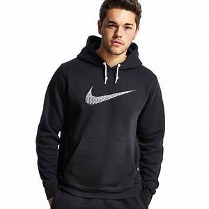 Mens Nike Swoosh Hoodie Black Navy Grey Fleece Hoody ...