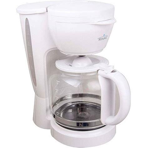 Get the morning started off the right way with this mr. Rival 12-Cup Coffee Maker, CM4306, White - Walmart.com