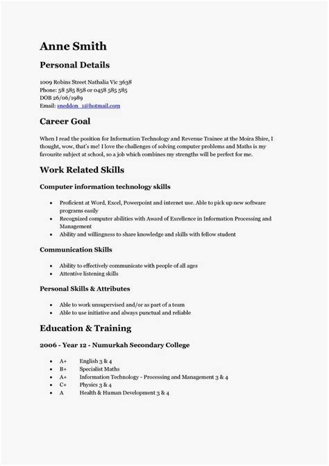 Resume For by 12 Free High School Student Resume Exles For 12