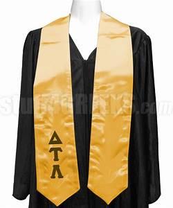 delta tau lambda satin graduation stole with greek letters With greek letter stoles
