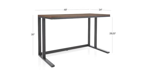 pilsen graphite desk with walnut top crate and barrel