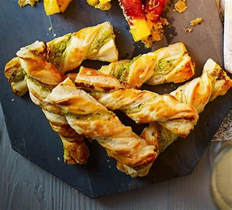 puff pastry canapes ideas twisty cheese straws recipe cheese straws puff pastries and pesto