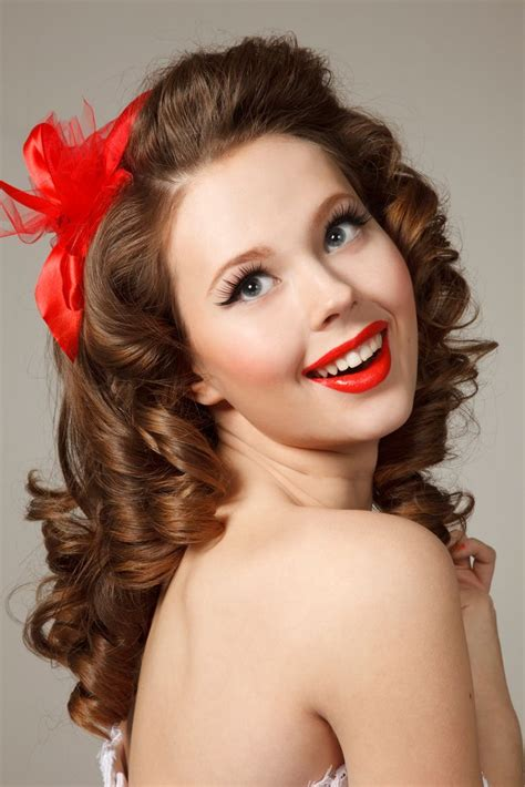 1950s Pin Up Hairstyles For Hair by Vintage Curly Hairstyles That Are Really Timeless
