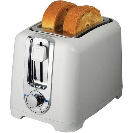 Black And White Toaster by Black Decker 2 Slice Toaster With Bagel Function White