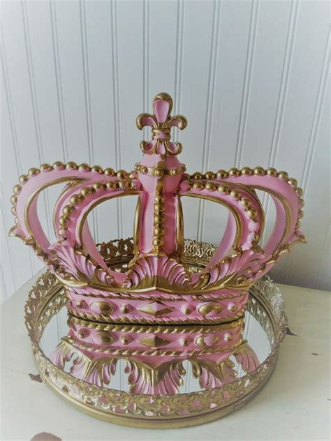 Buy gold round decorative mirrors and get the best deals at the lowest prices on ebay! NEW **HOT PINK/ GOLD CROWN Wall Plaque Decor Nursery Crib BED BOHO PRINCESS | Decorative wall ...