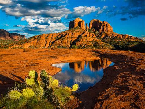 landscape nature cathedral rock  sedona arizona united
