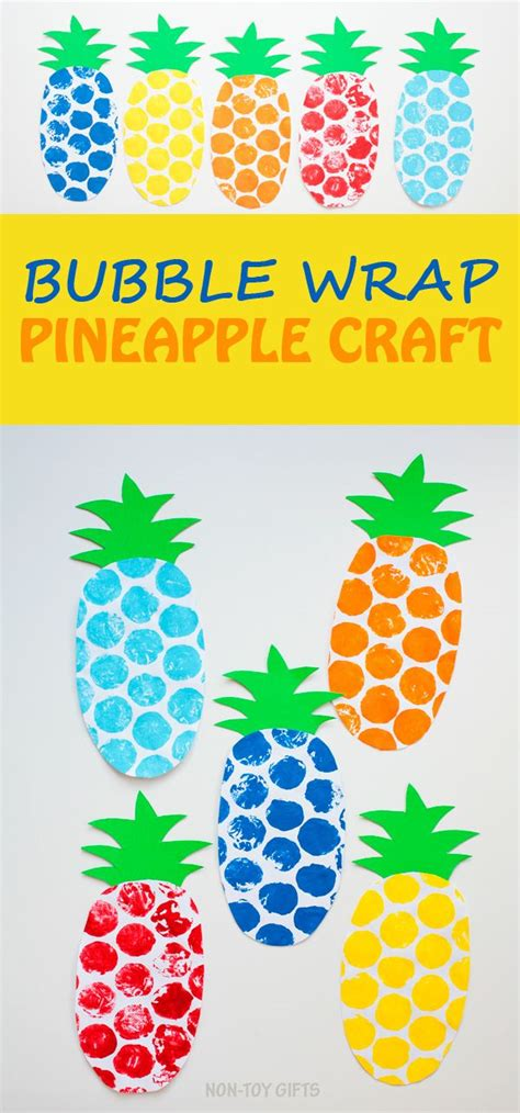 wrap pineapple craft for summer preschool 590 | 9fc52a01a6e05a34e1002198bbc63540