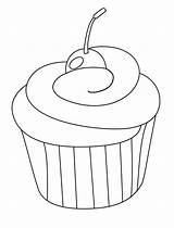 Cupcake Coloring Soft Cherry Desenho Ice Cream Colouring Cupcakes Desenhos Baking Colorir Dibujos Colorear Fazer Moldes sketch template
