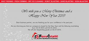 FerroECOBlast team wishes you a Merry Christmas and a ...