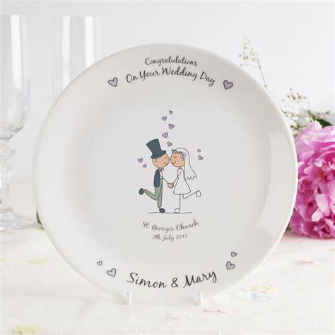 personalised bone china plate wedding couple wedding gifts  gettingpersonalcouk