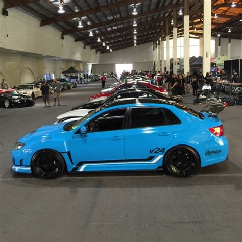 custom blue subaru 2011 subaru wrx sti