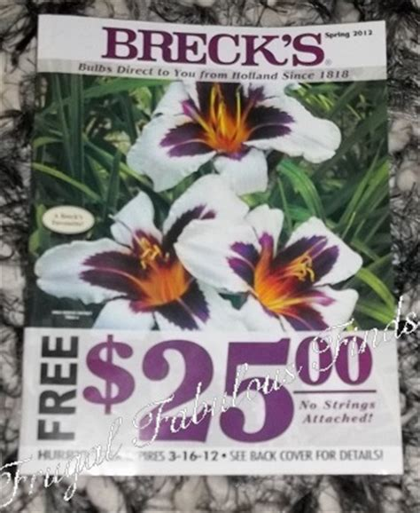 brecks bulbs coupons 25 25 free flowers more