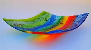 Fused Glass 'Mexican' Bowl 32x32cm - Janice Bradshaw