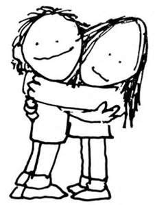Best Friends Stick Figures Hugging - Bing images | Hugging drawing, Drawings, Hug