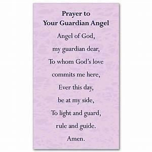 Guardian Angel Prayer: Holy Card