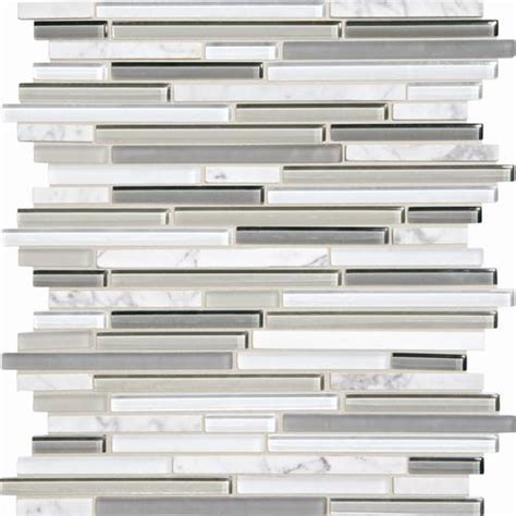 glass backsplash tile menards phase mosaics and glass wall tile 3 8 quot random at