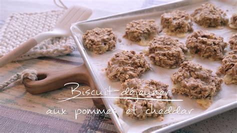 cuisine de a à z biscuit déjeuner aux pommes et au cheddar cuisine futée