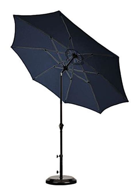 9 patio umbrella navy blue canopy