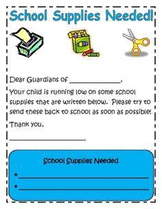 mid year request  school supplies bw school supply