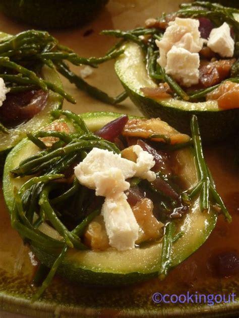 cuisiner salicorne courgettes de farcies à salicorne et au chèvre frais