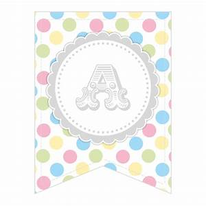 free printable whole alphabet pastel party polka dot With pastel letters