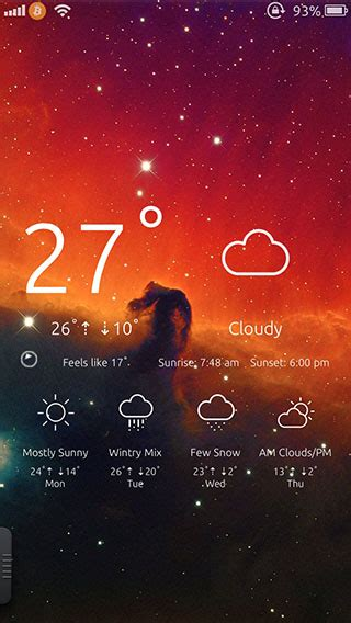 weather on iphone lock screen ios 7 themes theme to get live weather updates on