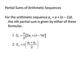 Partial Sum of Arithmetic Sequence