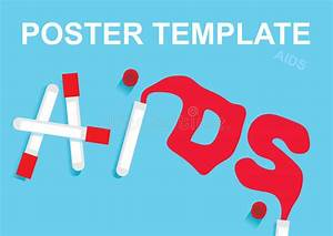 Hiv And Aids Written In Blood And Test Tubes  Template