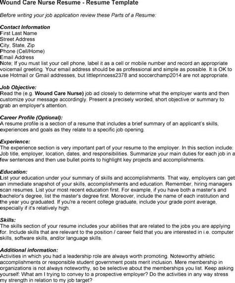 wound care nurse resume  nursing resume nursing