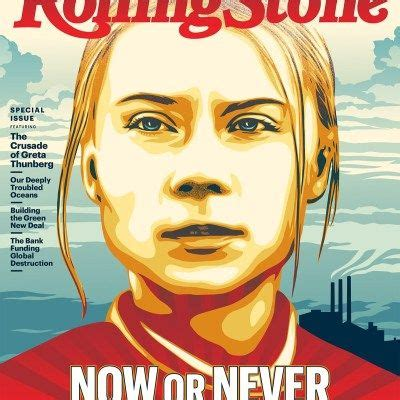 cover  rolling stone greta thunberg obey giant   rollingstone rolling