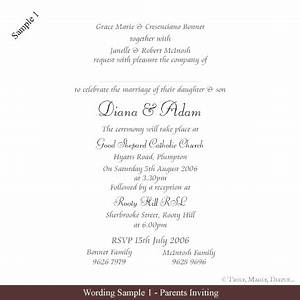 invitation wording sample 1gif 454x454 wedding With wedding invitations wording the parents of