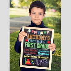 First Day Of School Sign, First Day Of Kindergarten Sign, First Day Of Preschool Sign, Back To