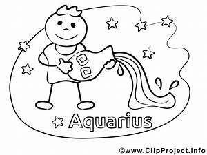 Wassermann Sternzeichen Malvorlage Fr Kinder
