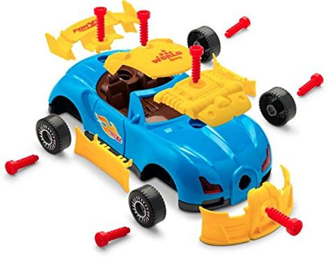 Brunfen Toys Racing Car Build Your Own 30 Piece Kids With