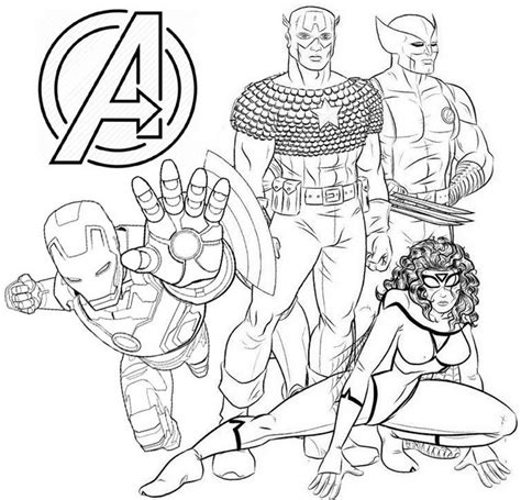 avengers endgame coloring page