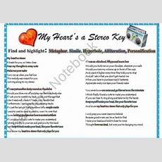 Figurative Language In Popular Songs With Answer Key Product From Mskcpottersmagicalshop On