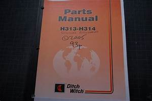 Ditch Witch 3700 Parts Manual