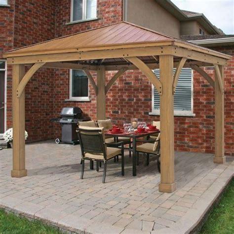 12x12 patio gazebo metal roof gazebo outdoor aluminum hardtop patio kits