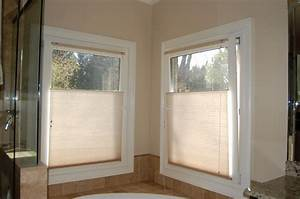 top down bottom up shades traditional bathroom With 5 basic bathroom window treatments