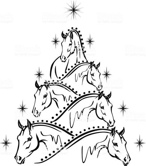 horse lovers christmas   sport horses stock vector