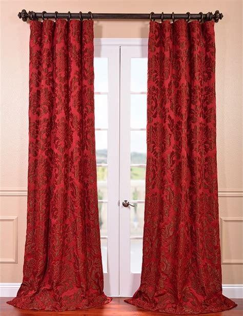 astoria bronze faux silk jacquard curtain