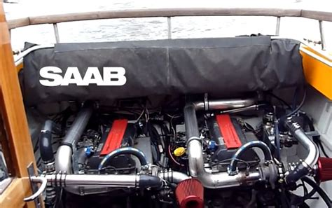 Boat With Car Engine by Boat With 2 Saab S Turbocharged Engines Saab Planet