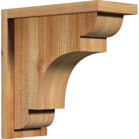 Wood Corbels by Ekena Millwork 6 In X 14 In X 14 In Western Cedar